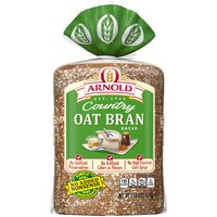 Arnold Country Oat Bran bread is baked soft and hearty with a homemade taste youll love. Arnold bread has no high fructose corn syrup and no artificial colors or flavors.