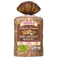 Arnold 100% Whole Wheat bread is baked with a rich taste youll love.  Arnold bread is free from artificial preservatives, colors and flavors with No Added Nonsense.