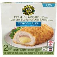 Barber Foods Chicken Breasts -Light Stuffed Cordon Bleu, 8 Ounce