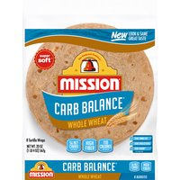 Mission Carb Balance - Large Burrito Whole Wheat Tortillas, 20 Ounce
