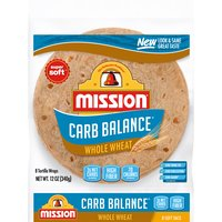 Mission Carb Balance - Whole Wheat Tortillas, 12 Ounce