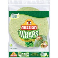 Mission Garden Spinach Herb Wraps, 15 Ounce