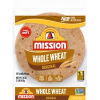 Mission 100% Whole Wheat Flour Tortillas, 16 Ounce
