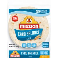 Mission Carb Balance Soft Taco Flour Tortillas - Medium, 340 Gram