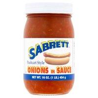 Sabrett Sabrett Onions in Sauce, 16 Ounce