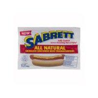 Sabrett Skinless Uncured Beef Frankfurters - All Natural, 14 Ounce