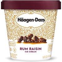 Premium ice cream with rum soaked raisins.
