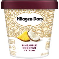 A taste of the tropics. Premium coconut flavored ice cream with real pineapple bits.