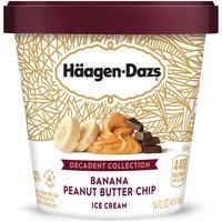 Haagen-Dazs Banana Peanut Butter Chip Ice Cream, 14 Fluid ounce