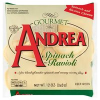 Andrea Ravioli Spinach, 12 Ounce