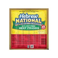 Hebrew National 97% Fat Free Beef Franks, 9.43 Ounce