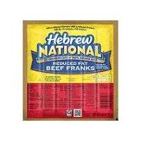 Hebrew National Hebrew National Reduced Fat Beef Franks, 6 Each