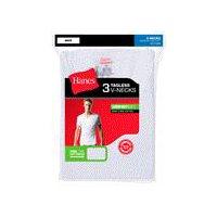 Hanes V-Neck T-Shirt - Mens, Large White, 1 Each