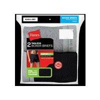 Hanes Boxer Briefs  - Black Gray, Large, 2 Each