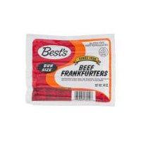 Best's Franks - Beef, Bun Size, 14 Ounce