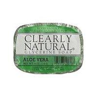 Clearly Natural Glycerine Soap - Aloe Vera, 4 Ounce