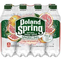 Poland Spring Poland Spring Sparkling Ruby Red Grapefruit Natural Spring Water, 135.2 Fluid ounce