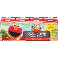 8 boxes. No sugar added. Blend of 5 juices from concentrate with other added ingredients.