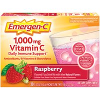 Emergen-C Emergen-C Vitamin C 1000mg Raspberry Drink Mix, 9.6 Ounce