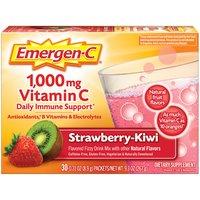 Emergen-C Vitamin C 1000mg Strawberry-Kiwi Drink Mix, 9.3 Ounce