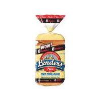 Lender's Bagel Shop Bagels - Plain, 1.07 Pound