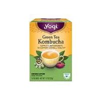 Contains Caffeine. Updated for today's lifestyle, Yogi's special formula of Organic Green Tea with Kombucha is designed to provide antioxidants to support your overall health.