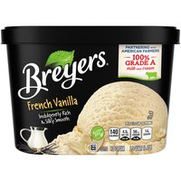 Breyers French Vanilla ice cream is our richest, most indulgent vanilla inspired by traditional French custard. It's made with real vanilla bean specks, sweet cream and egg yolks