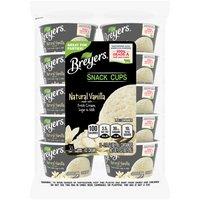 Breyers Original Natural Vanilla Snack Cups Ice Cream, 10 Each