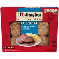 Jimmy Dean Jimmy Dean Fully Cooked Original Pork Sausage Patties, 9.6 Ounce