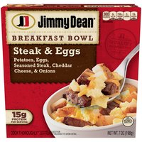 Filled with grilled steak, fluffy eggs, potatoes, onions and real cheese, our breakfast bowls are filled with 15 grams of protein per serving, making it the perfect addition to your breakfast routine.