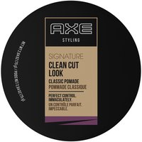 Make Axe Clean Cut Look Classic Pomade part of your morning routine to defy bed-head and give you hold without crusty, crunchy hair.