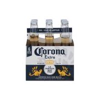 Corona Extra Imported Beer - 6 Pack, Bottles, 72 Ounce