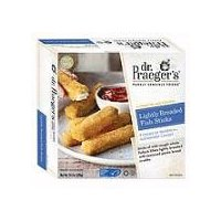 Dr. Praeger's Purely Sensible Foods Lightly Breaded Fish Sticks, 10.2 Ounce