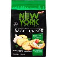 New York Style Roasted Garlic Bagel Crisps, 204 Gram