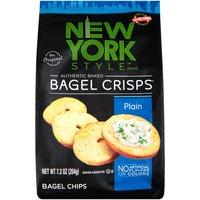New York Style Plain Bagel Crisps, 7.2 Ounce