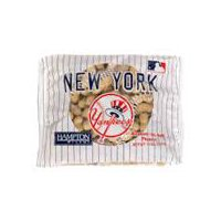 Hampton Farms Peanuts - New York Yankees Roasted No Salt, 10 Ounce