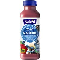 Naked Boosted Blue Machine Juice Smoothie -Single Bottle, 15.2 Fluid ounce