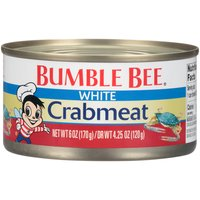 Bumble Bee White Crabmeat is made of whole or broken pieces of meat from the sides of the crab where the legs are attached.