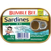 For a little more flavor, try our wild caught sardines packed in rich soya oil.