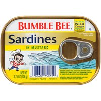 Our tasty, wild caught sardines packed in a delicious mustard sauce.