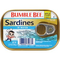 Bumble Bee wild caught sardines, packed in pure water for an unadulterated flavor sardine lovers enjoy the world over.