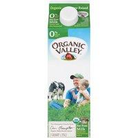 Organic Valley Fat Free Milk, 32 Ounce