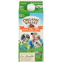 Organic Valley 0% Organic Milk, 0.5 Gallon