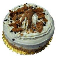Leonard Novelty Bakery 8 Inch Single Layer Cannoli Cake, 24 Ounce