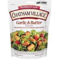 Chatham Village Traditional Cut Garlic & Butter Flavored Croutons, 5 Ounce