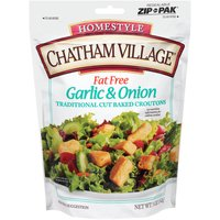 Chatham Village Croutons - Garlic & Onion, 5 Ounce