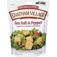 Chatham Village Croutons - Sea Salt and Pepper, 5 Ounce