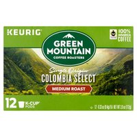 Green Mountain Coffee Green Mountain Coffee Medium Roast Colombian Fair Trade Select KCup Pods, 12 Each
