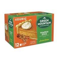 Green Mountain Coffee Pumpkin Spice Light Roast Coffee K-Cup Pods, 12 Each