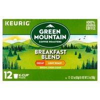Green Mountain Coffee Green Mountain Coffee Breakfast Blend Light Roast Decaf K-Cup Pods, 12 Each